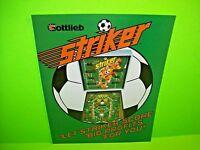 Gottlieb STRIKER Original Flipper Arcade Game Pinball Machine Promo Flyer 1982