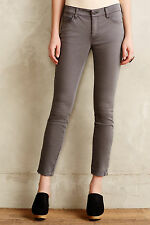 Pilcro Serif Sateen Zip Jeans Pants Sizes 28, 33 Dark Grey NW ANTHROPOLOGIE Tag