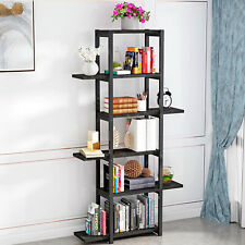 5 Tiers Book Shelf Display Unit Free Standing/Folding Book Stand/Shelves ~US