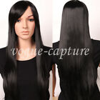 Ombre Brown Blonde Cosplay Long Wig Top Heat Resistant Synthetic Hair Full Wigs
