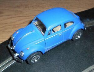 Scalextric conversion old type 1962 Volkswagen Beetle car - superb in Matt blue