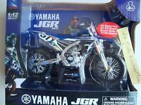 NEW MOTO MINIATURE  YAMAHA YZ 450 TEAM JGR MX  450 MOTO CROSS  1/12° N°51 28 34