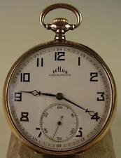 Antike Taschenuhr 800 Silber TELLUS Chronometer vor 1945