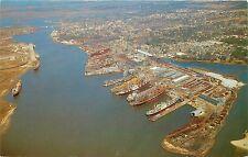 Vintage Postcard; Birdseye View Ingalls Shipyard, Pascagoula MS Jackson County