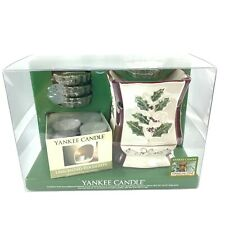 Yankee Candle Wax Tart Candle Warmer Sparkling Pine and Tea Lights Gift Set Nos
