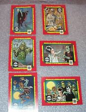 UNIVERSAL MONSTERS  6 Card Set    FREE P&H  National Safe Kids Campaign WEREWOLF