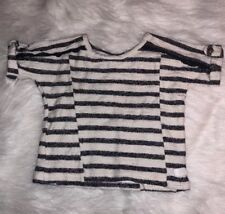 7 For All Mankind Girls Toddler Stripe Top Blue White 2T