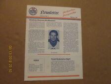 Ahl Nova Scotia Oilers Rare Defunct February 1987 Volume 3,No.5 Team Newsletter