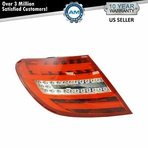 LED Tail Light Taillamp Left Driver LH For 12-15 Mercedes Benz C250 C300 350
