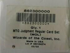 MTG Magic the Gathering Judgment sealed/complete full set English NM