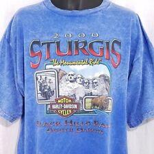 Harley Davidson T Shirt 2000 Sturgis Ride Mount Rushmore Buffalo Made In USA XL
