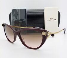 New Coach sunglasses HC8242B 511311 55 Oxblood Gold Grey Gradient AUTHENTIC 8242