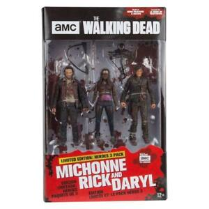 """WALKING DEAD 'Heroes' Michonne, Rick & Daryl 5"""" Action Figure 3-Pack (McFarlane)"""