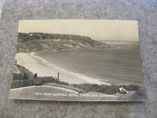 1950s real photo postcard --View from Karenza Hotel - Carbis Bay Cornwall
