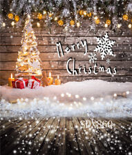 Merry Christmas Snowflake Background Vinyl & Polyester Backdrop Photography Prop