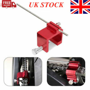 Red CNC Motorcycle Chain Alignment Motorbike Chain Sprocket Alignment Tool ATV