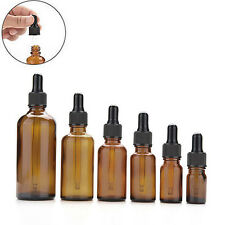 10Pcs 5/10/15/30/50ml Amber Glass Pipette Dropper Bottles-Aromatherapy Hot