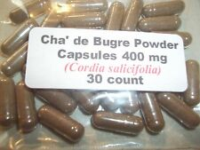 Cha de Bugre Powder Capsules (Cordia salicifolia) 400mg - 30 Count