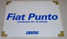 Betriebsanleitung Handbuch Autoradio Fiat Punto Stand 2001