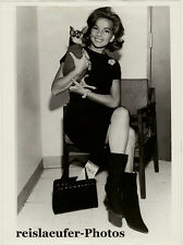 Abbe Lane, US Singer and Actress with her Pet Dog Pasqualina, Orig. Photo, 1963