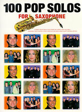100 Pop Solos for Saxophone Sax Sheet Music Book ROCK ABBA ELTON JOHN OASIS HITS