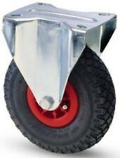 Wheels for Trolleys Wheel Pneumatic Plate in plastic Support Fixed 260 153 Kg