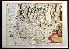 Carta geografica TERRITORIO di BRESCIA parte meridionale Coronelli 1985