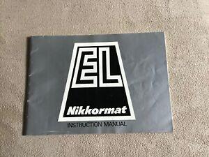 EL NIKKORMAT INSTRUCTION MANUAL