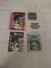 SEGA GAME GEAR TAZ ESCAPE FROM MARS GAME COMPLETE IN BOX 1994