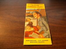 SEPTEMBER 1955 WESTERN PACIFIC CB&Q/D&RGW/WP CALIFORNIA ZEPHYR ROUTE GUIDE