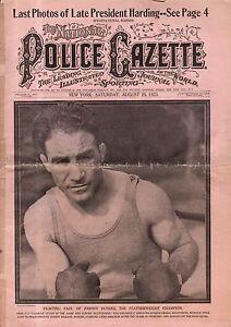 1923 Police Gazette August 25 - Last photos of President Harding;Ethel Barrymore