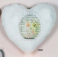 "Hoff Interieur 1557 Heart Cushion "" Farm "" Pig with Wings and Crown White"