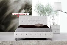 #4008 Gorgeous Modern Queen Size White PU Leather bed
