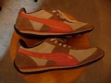 Puma Women's Running Shoes Speeders White/Pink/Tan US 8 EU 38.5