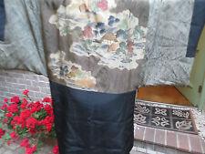 MINT/VTG 40s/SILK HAORI/Taisho/unisex jacket /Green/black reversible silk/M-L/