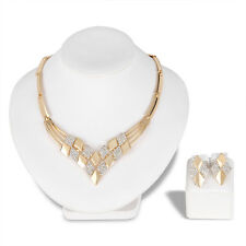 Vintage Fashion Women Wedding Jewelry Sets Crystal Necklace Earring Set 047