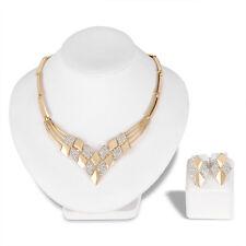 Vintage Fashion Women Wedding Jewelry Sets Crystal Necklace Earring Set 047