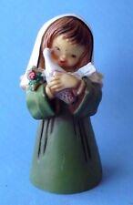Vintage Christmas Small Angel Holding White Dove Hard Plastic Tree Ornament