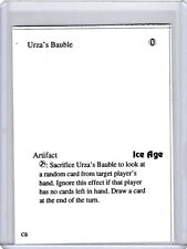 Urza's Bauble early PLAYTEST CARD from Ice Age MtG misprint error