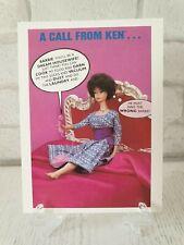 RARE Vintage Barbie Ken Doll Retro 1990 Mint postcard Greeting Card Unused 02