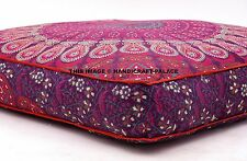 Oversized Indian Mandala Floor Pillow Square Ottoman Poufs Cover Pets Bed Throw