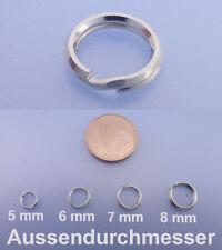 Echt 925 Silber Spaltringe Öse 5  6  7  8 mm Ösen Binderinge Verschlussringe