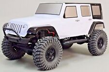 Axial SCX10 Truck Body Shell JEEP WRANGLER RUBICON Crawler Pre-Painted White