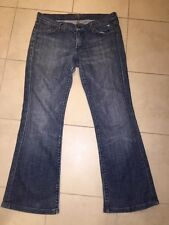 7 For All Mankind Women's Flare Distressed Denim Jeans Sz 31 (34x29)