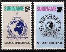 Surinam 656-57 **, 50 Jahre Interpol