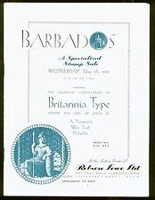 Barbados Britannia Tipo Raro 1947 Robson Lowe Subasta Catálogo