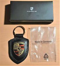 Porsche Schlüsselanhänger emailliert schwarz ORIGINAL mit Verpackung NEU