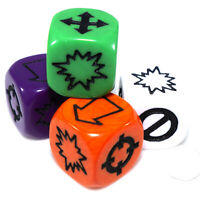 Missfire/Scatter Dice (Select Colours) Symbol Wargame Artillery Indirect Fire