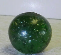 #11850m Vintage German Green Glass Mica Marble .77 Inches *Mint Minus*