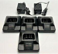 Lot of 4 Motorola Intellicharge Htn9042A Radio Battery Chargers